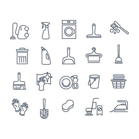 Set schoonmaak pictogrammen Stockfoto - 77439468