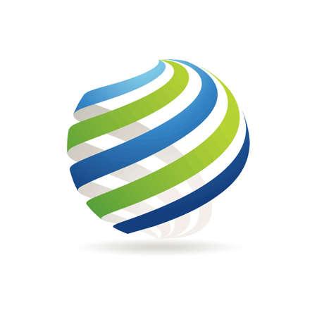 Spherical logo element design