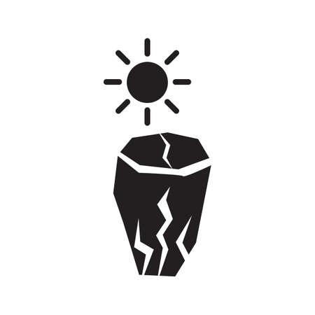 Drought concept Ilustrace