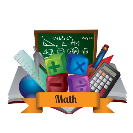 Mathematics concept Иллюстрация