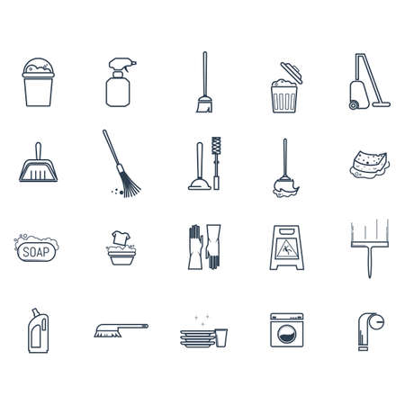 Set of cleaning icons Ilustrace