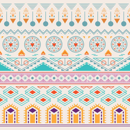 Seamless aztec background Illustration