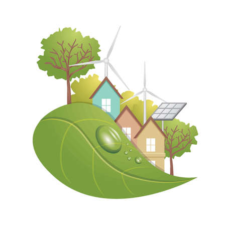 Ecological concept with renewable energy