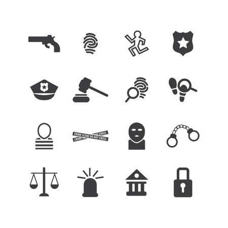 burglar proof: Collection of law enforcement icons