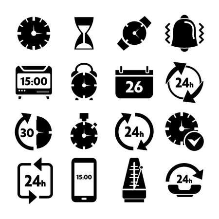 metronome: Set of time icons
