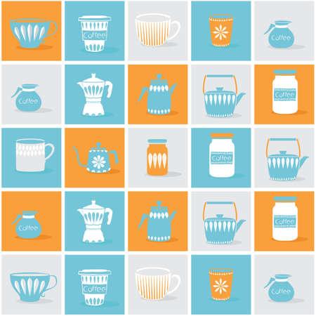 Coffee utensils background design