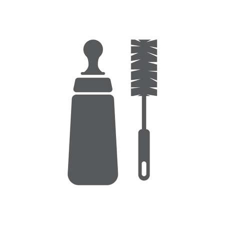 Bottle brush cleaner Illustration