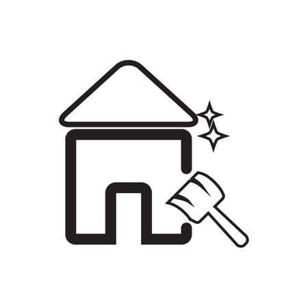 clean house Иллюстрация