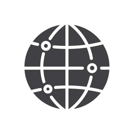 Globe with location concept icon