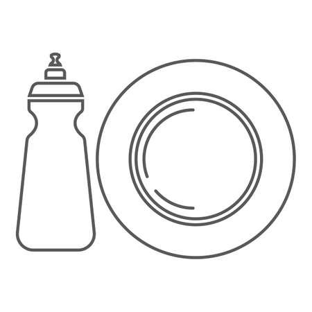 Vaatwasmiddel Stock Illustratie