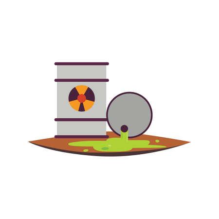 spillage: Toxic waste Illustration