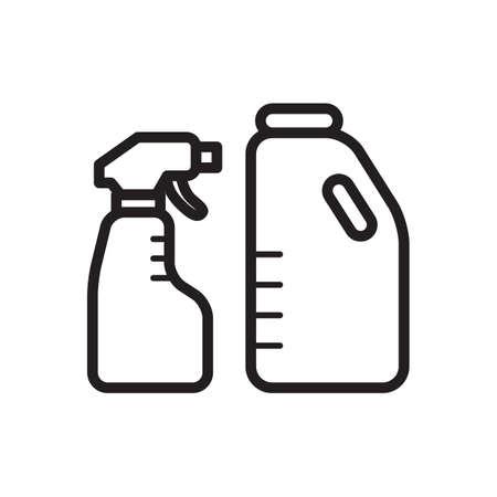 Spray bottle and detergent Çizim