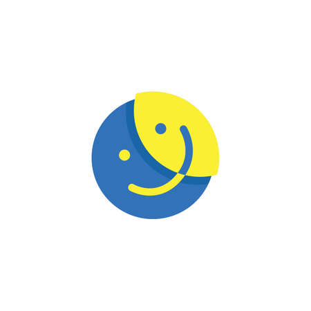 smiley logo element with abstract concept