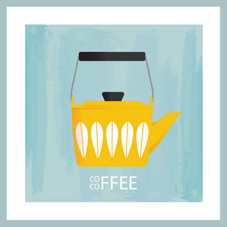 Kettle with coffee Illustration