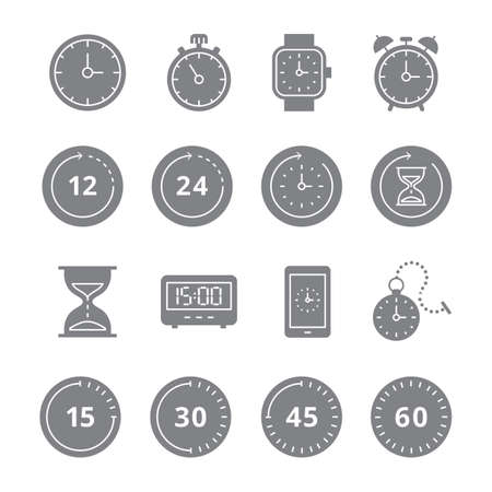 Set of timer icons Stock Vector - 77174562