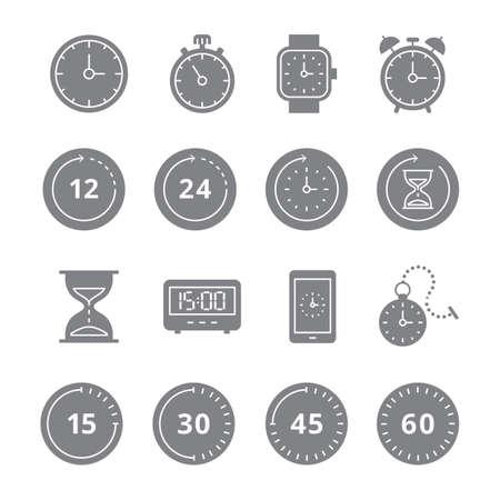 Set of timer icons Illustration
