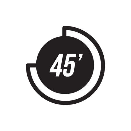 45 seconds icon Illustration