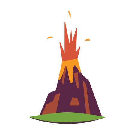 volcanic eruption 向量圖像