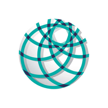 globe logo element with abstract concept Zdjęcie Seryjne - 77224851
