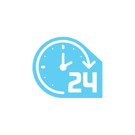 24 hours clock icon Illustration