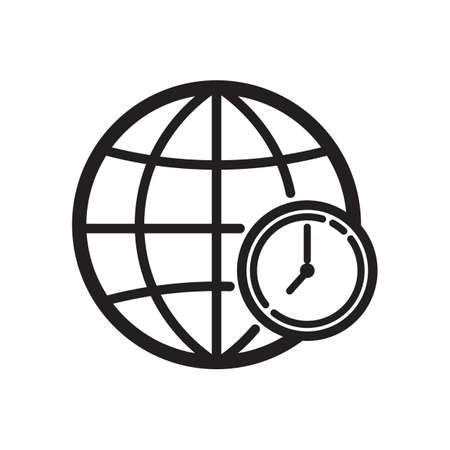globe with timezone concept icon