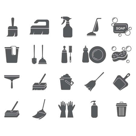 set of cleaning tools