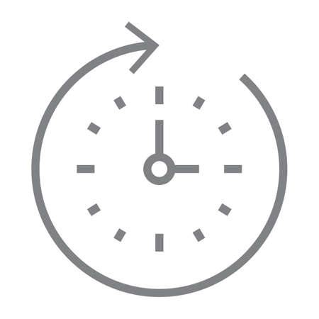 clock with arrow icon
