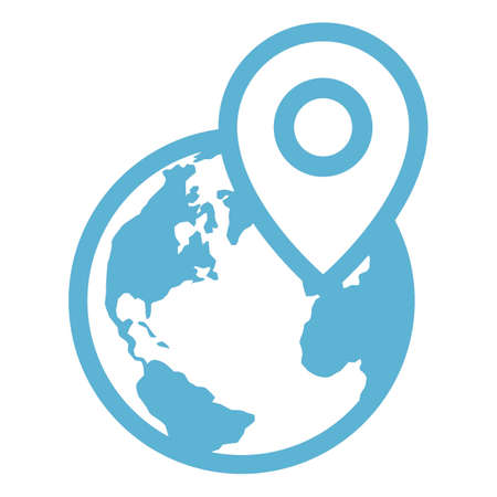 global positioning: global positioning system icon Illustration