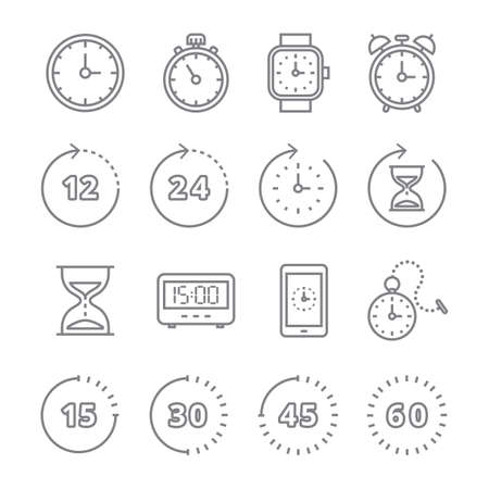 set of timer icons