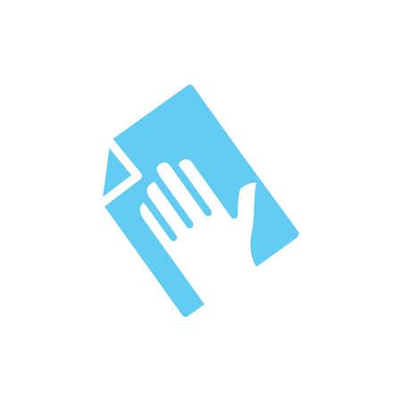 Pulizia a mano con asciugamano Archivio Fotografico - 77225065