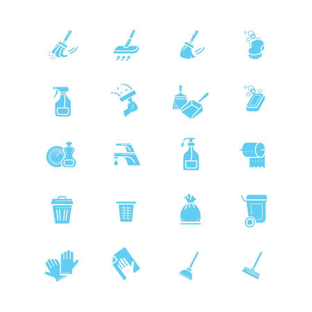 collection of cleaning tools