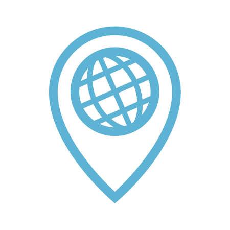 グローバルな場所のアイコン  イラスト・ベクター素材