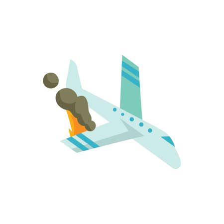 plane crashing Ilustrace