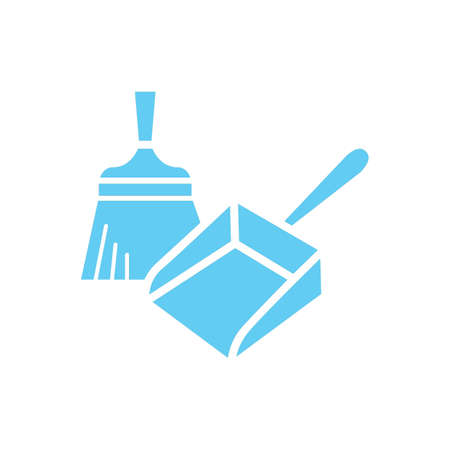 dustpan and hand sweeper Illustration