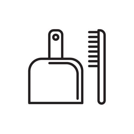 sweeper: dustpan and hand sweeper Illustration