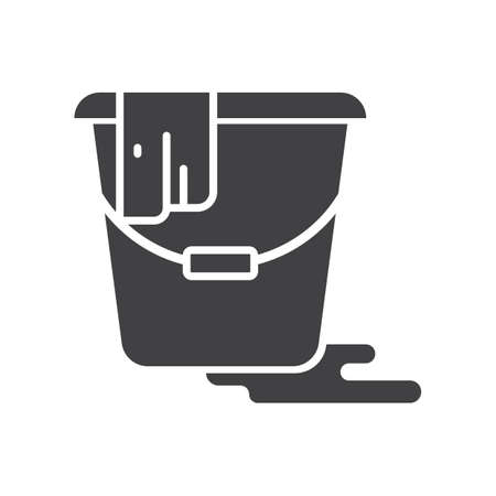 bucket of water with cloth