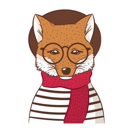 hipster fox Фото со стока - 77180191