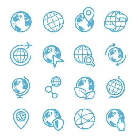 set of earth icons
