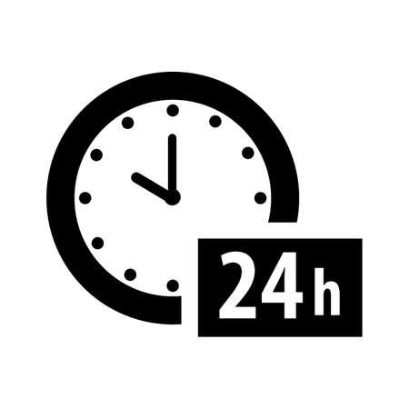 24 hours icon Stock Vector - 77173352