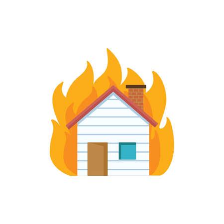 Casa sul fuoco Archivio Fotografico - 77173962