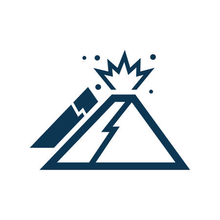 erupting: volcanic eruption Illustration