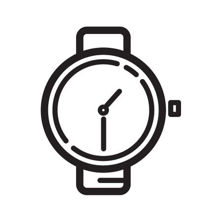 wristwatch icon Illustration