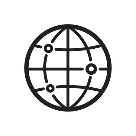 globe with location concept icon Illustration