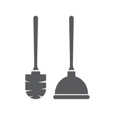 plunger and toilet brush