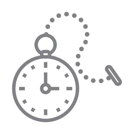 pocket watch icon Illustration