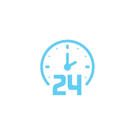 24 hours clock icon Stock Vector - 77174303
