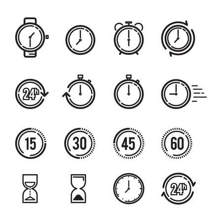 Colección de iconos de tiempo
