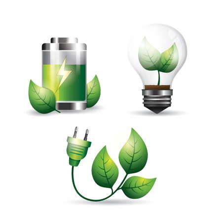 ecology concepts Ilustrace