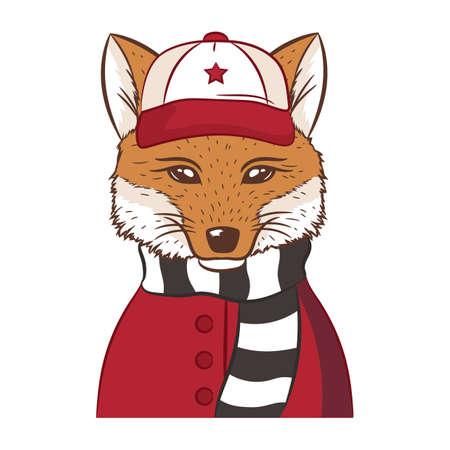 hipster fox Фото со стока - 77181927