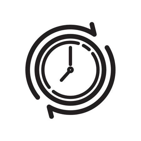 clockwise: clockwise icon Illustration